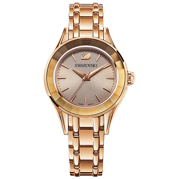 Swarovski Alegria Ladies' Rose Gold Plated Bracelet Watch - Product number 5217806