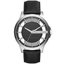 Armani Exchange Men's Black Leather Strap Watch - Product number 5218462