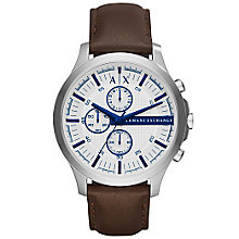 Armani Exchange Men's Brown Leather Strap Watch - Product number 5218470