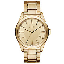 Armani Exchange Men's Gold-Plated Bracelet Watch - Product number 5218497