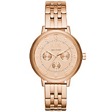 Armani Exchange Ladies' Rose Gold Plated Bracelet Watch - Product number 5218551