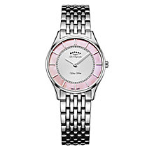 Rotary Ultra Slim Ladies' Stainless Steel Bracelet Watch - Product number 5220440