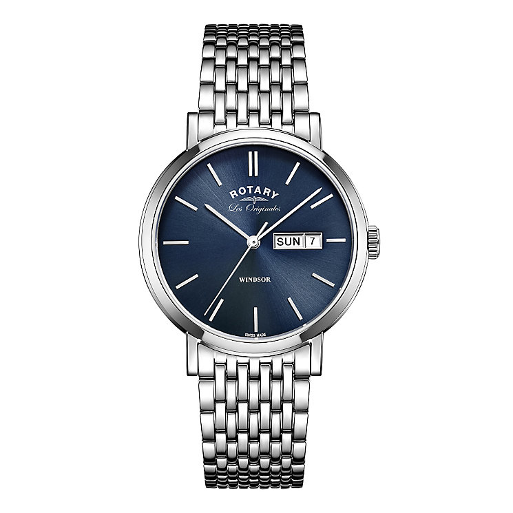 Rotary Windsor Men's Stainless Steel Bracelet Watch - Product number 5220505