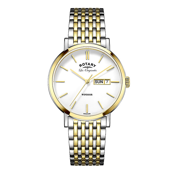 Rotary Windsor Men's Two Colour Bracelet Watch - Product number 5220513