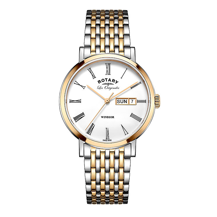 Rotary Windsor Men's Two Colour Bracelet Watch - Product number 5220521