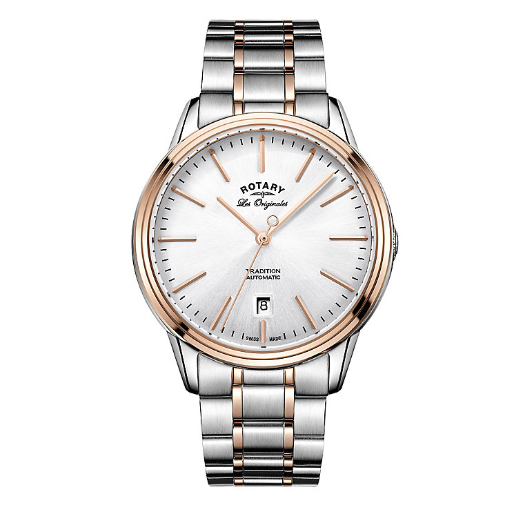 Rotary Tradition Men's Two Colour Bracelet Watch - Product number 5220556