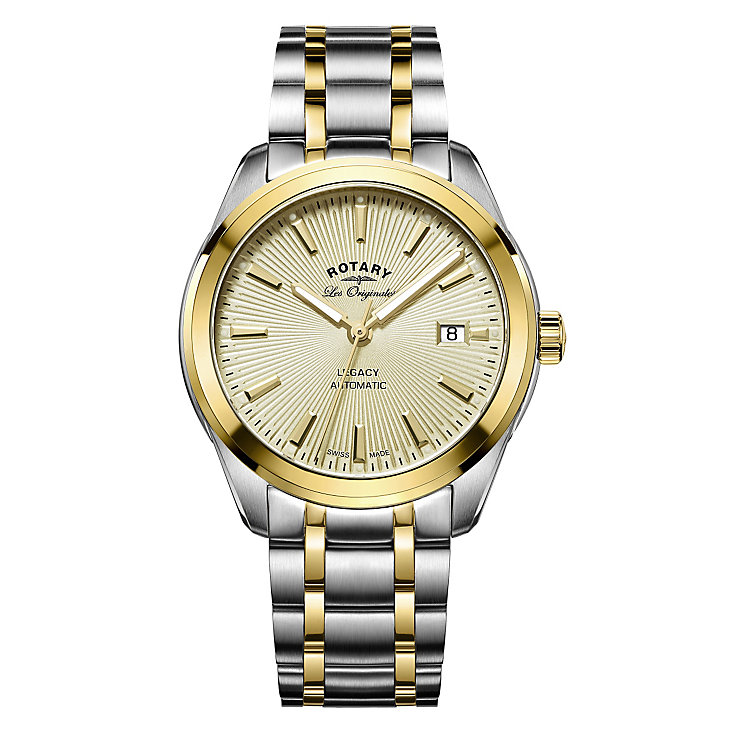 Rotary Legacy Men's Two Colour Bracelet Watch - Product number 5220564