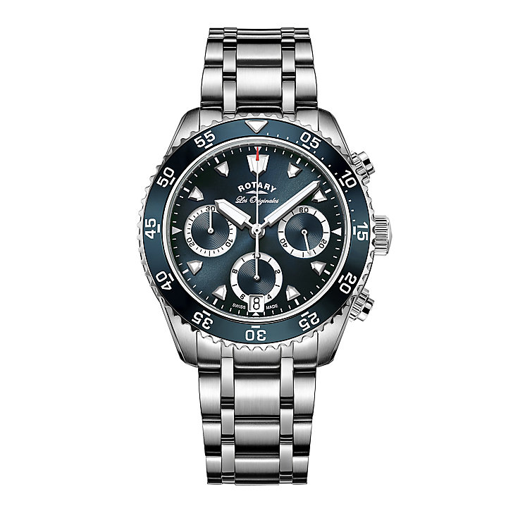 Rotary Legacy Men's Stainless Steel Bracelet Watch - Product number 5220610