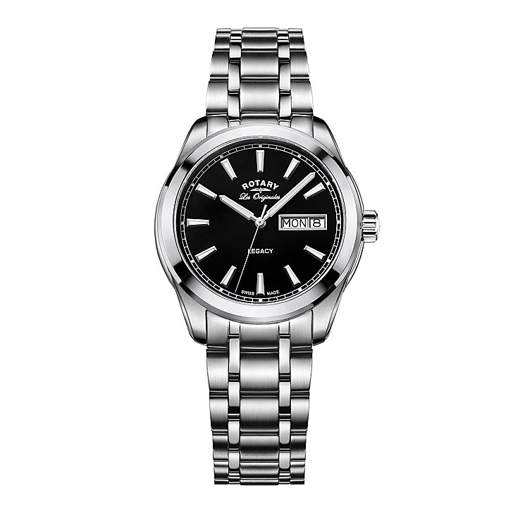 Rotary Legacy Men's Stainless Steel Bracelet Watch - Product number 5220629