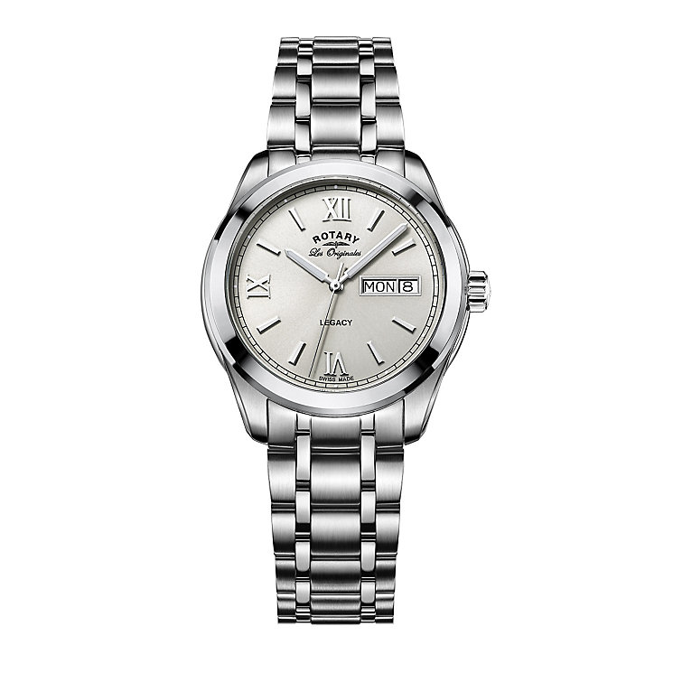 Rotary Legacy Men's Stainless Steel Bracelet Watch - Product number 5220637