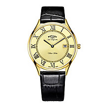 Rotary Ultra Slim Men's Gold Plated Strap Watch - Product number 5220734