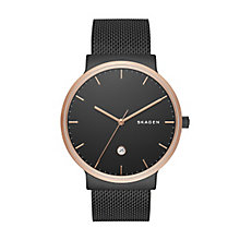 Skagen Men's Black Stainless Steel Mesh Bracelet Watch - Product number 5220777