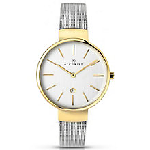 Accurist Ladies' Two Tone Gold Plated Bracelet Watch - Product number 5220823