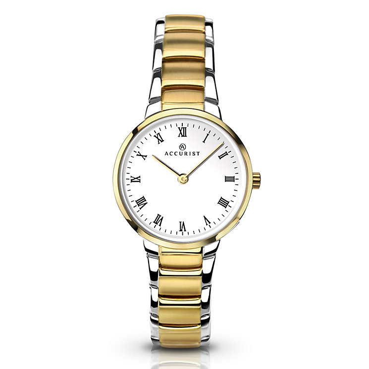Accurist Ladies Two Tone Gold Plated Strap Watch - Product number 5220831