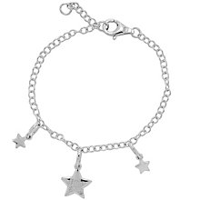 Diamond Wishes Sterling Silver Little Star Charm Bracelet - Product number 5220858