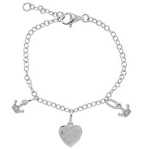 Diamond Wishes Silver Little Princess Charm Bracelet - Product number 5220874