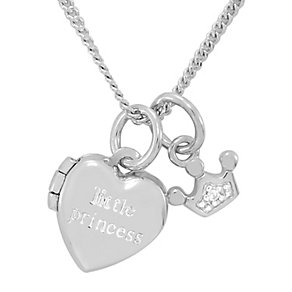 Diamond Wishes Silver 'Little princess' Heart Locket - Product number 5220971