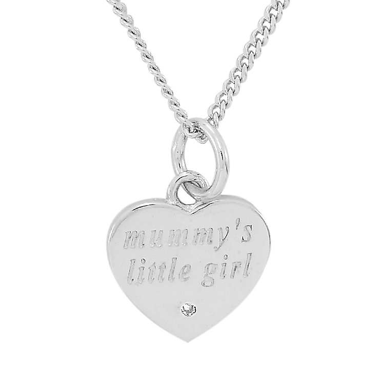 Diamond Wishes Sterling Silver 'Mummys little girl' Pendant - Product number 5220998