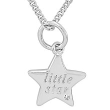 Diamond Wishes Sterling Silver 'Little Star' Star Pendant - Product number 5221056