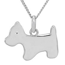 Diamond Wishes Sterling Silver Diamond-set Dog Pendant - Product number 5221064