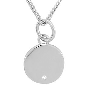 Diamond Wishes Sterling Silver Diamond-set Circle Pendant - Product number 5221404