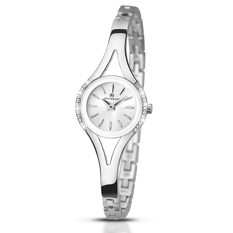 Accurist Ladies' Stone Set Stainless Steel Bracelet Watch - Product number 5221455
