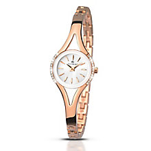 Accurist Ladies' Stone Set Rose Gold-Plated Bracelet Watch - Product number 5221463
