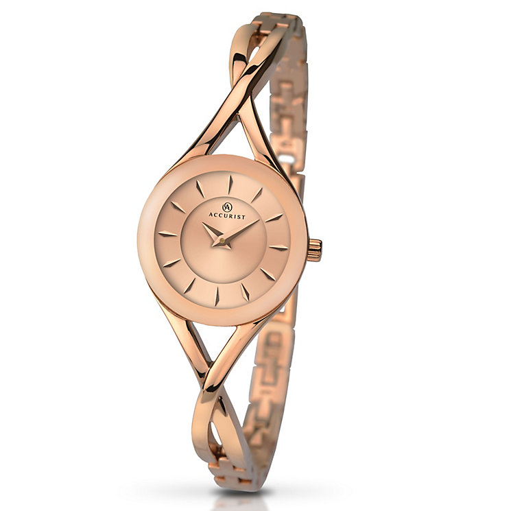 Accurist Ladies' Rose Gold-Plated Bracelet Watch - Product number 5221528