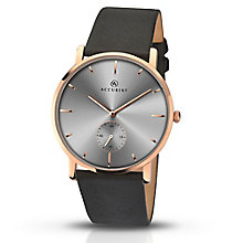 Accurist Men's Grey Dial Black Leather Strap Watch - Product number 5221668