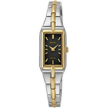 Seiko Solar Ladies' Two Colour Bracelet Watch - Product number 5222249