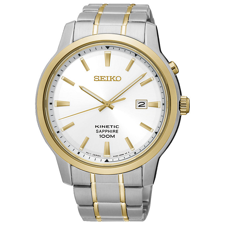 Seiko Kinetic Men's Two Colour Bracelet Watch - Product number 5222273