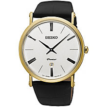 Seiko Premier Men's Rose Gold Plated Strap Watch - Product number 5222311