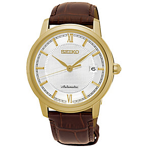 Seiko Automatic Men's Rose Gold Plated Strap Watch - Product number 5222346