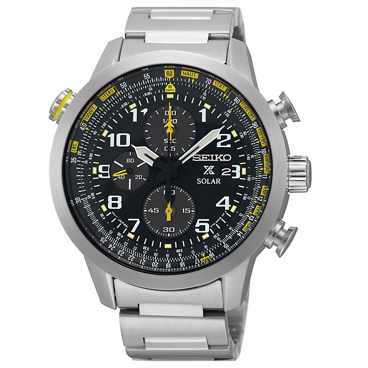 Seiko Prospex Solar Men's Stainless Steel Bracelet Watch - Product number 5222397