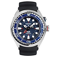 Seiko Kinetic Gmt Padi Men's Stainless Steel Strap Watch - Product number 5222583