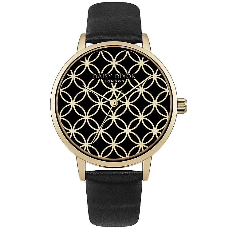 Daisy Dixon Ladies' Black Leather Strap Watch - Product number 5223806