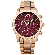 Lipsy Ladies' Rose Gold Plated Bracelet Watch - Product number 5225647