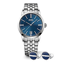 Hugo Boss Men's Bracelet Watch & Cufflink Gift Set - Product number 5231353