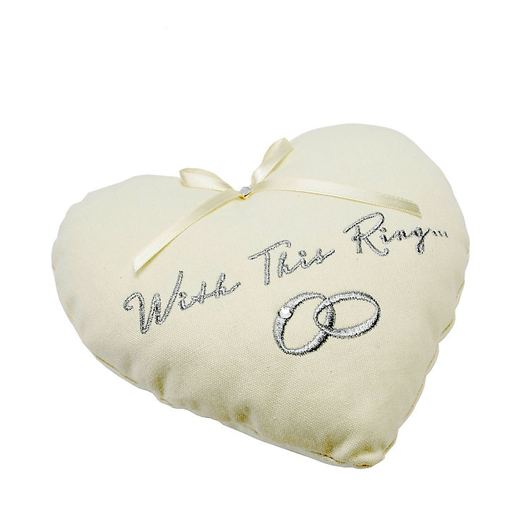 Amore Embroidered Ring Cushion - Product number 5232430