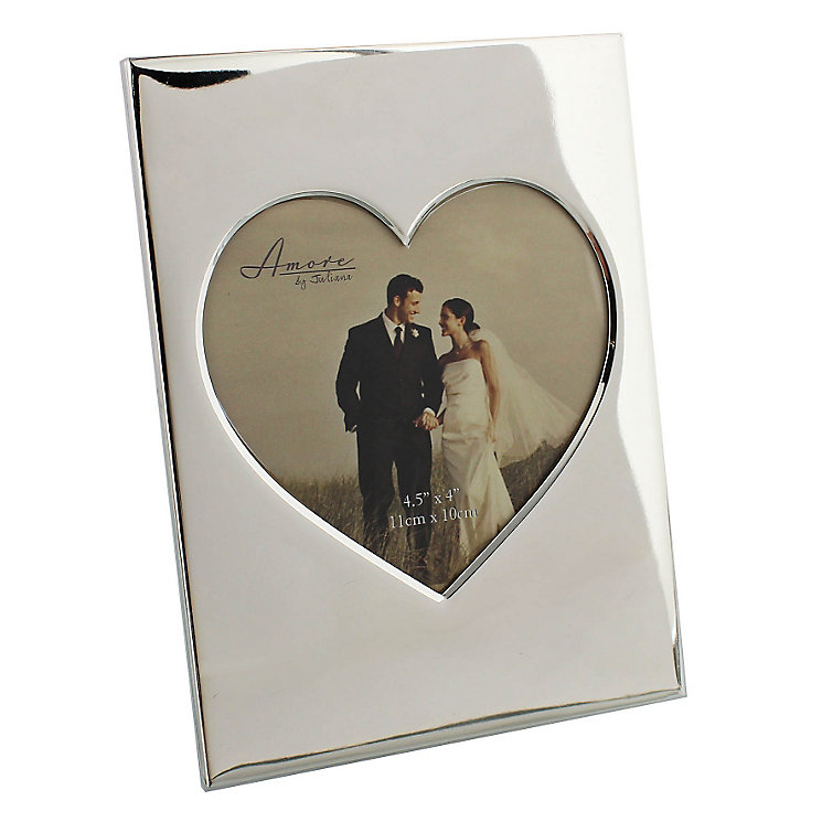 "Amore Silver-Plated Heart Frame 5"" x 5"" - Product number 5232694"