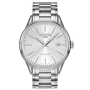 Roamer Superior 3H Men's Stainless Steel Braclet Watch - Product number 5235340