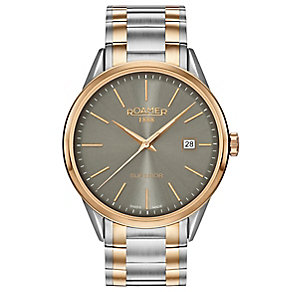 Roamer Superior 3H Men's Two Colour Braclet Watch - Product number 5235367