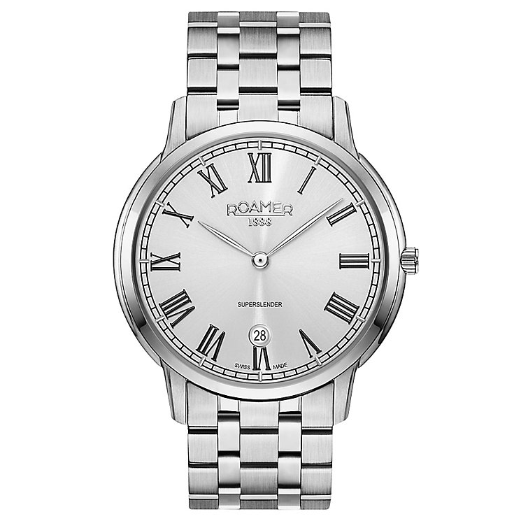 Roamer Super Slender Men's Stainless Steel Bracelet Watch - Product number 5235375