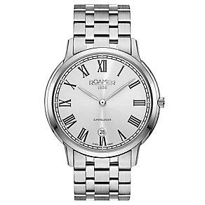 Roamer Super Slender Men's Stainless Steel Bracelet Watch - Product number 5235375