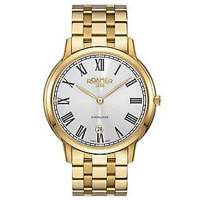 Roamer Super Slender Men's Gold Plated Bracelet Watch - Product number 5235391
