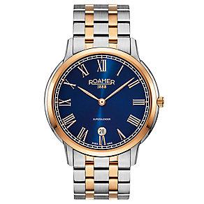 Roamer Super Slender Men's Two Colour Bracelet Watch - Product number 5235405