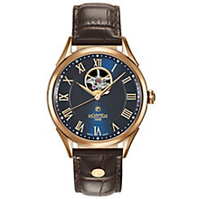 Roamer Swiss Matic Men's Rose Gold Plated Strap Watch - Product number 5235421