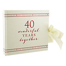"Amore 40th Anniversary Photo Album 6"" x 4"" - Product number 5235812"