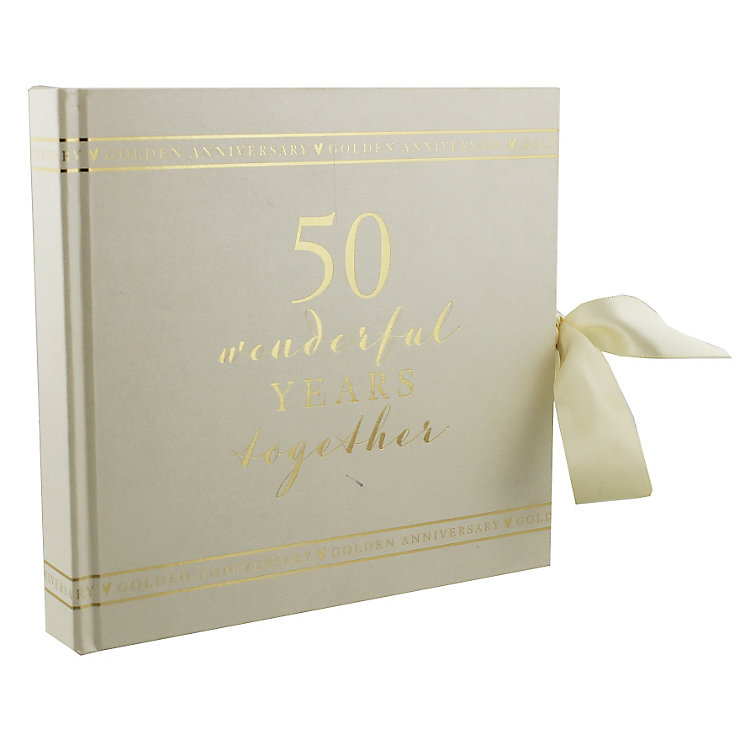 "Amore 50th Anniversary Photo Album 6"" x 4"" - Product number 5235820"