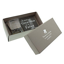 Amore Father Of The Bride Glass & Coaster Boxed Set - Product number 5236029
